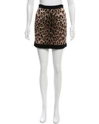Balmain Leopard Patterned Mini Skirt