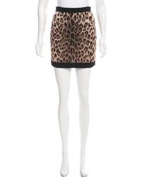 Balmain Leopard Print Mini Skirt