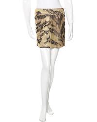 Diane von Furstenberg Leopard Print Mini Skirt