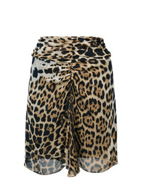 Leopard print mini skirt medium 7989077