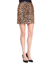 Ralph Lauren Black Label Lindell Leopard Print Miniskirt