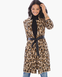 Mabel belted animal jacquard cardigan medium 3649824