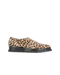 Sacai Leopard Print Slip On Oxfords