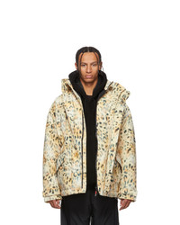 Napa By Martine Rose Beige And Black A Jag Jacket
