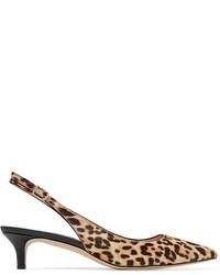 Ludlow leopard print calf hair pumps sand medium 3947040