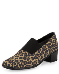 Yasemin waterproof leopard print pump camel medium 648857