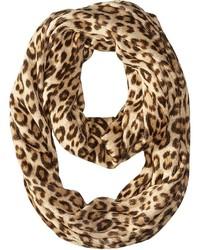 Tan Leopard Scarf