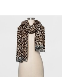 A New Day Scarf A New Day Brown Leopard Print