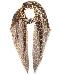 Saint Laurent Cashmere And Silk Scarf