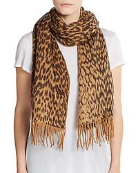 Ivanka trump leopard print jacquard scarf medium 421063
