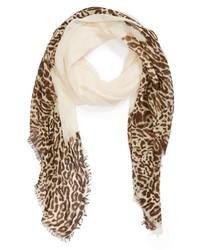 Lauren Ralph Lauren Leopard Print Scarf Jasmine Cream Leopard One Size One Size