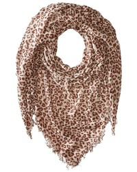 Chan Luu Leopard Cashmere And Silk Scarf Scarves