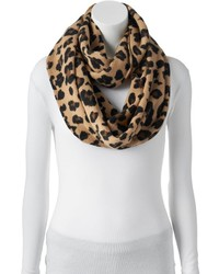 Apt. 9 Leopard Print Knit Infinity Scarf