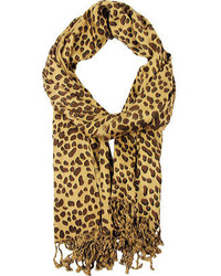 Saachi Leopard Print Scarf Leopard Scarves