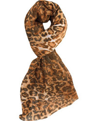San Diego Hat Company Leopard Scarf Bss1412 Camel Scarves