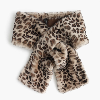 df4181752455a J.Crew Leopard Shearling Stole, $298   J.Crew   Lookastic.com