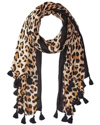 Kate Spade New York Classic Leopard Oblong Scarves