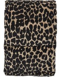 Padded leopard print cotton scarf medium 6717192