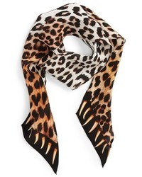 Rockins Leopard Teeth Skinny Silk Scarf