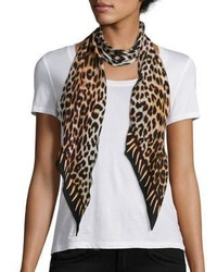 Rockins Leopards Teeth Skinny Silk Scarf