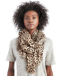 Sole society leopard print oversized scarf medium 421085