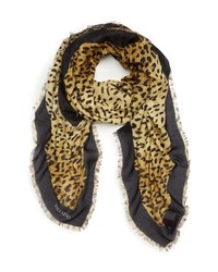 Valentino Wild Leopard Modal Cashmere Scarf