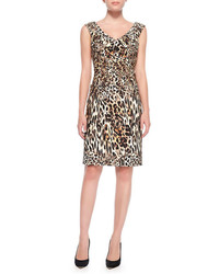 Tan Leopard Sheath Dress