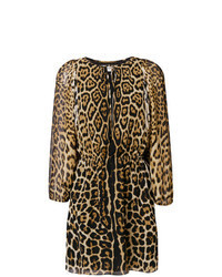 Tan Leopard Shift Dress