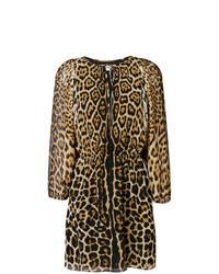 Tan Leopard Shift Dress