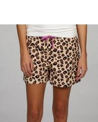 Leisureland Leopard Flannel Boxer Shorts