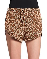 Rory Beca Leopard Print Shorts