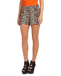 Tammy leopard print shorts medium 76585