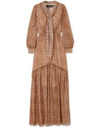 Rachel Zoe Verushka Leopard Print Silk Chiffon Maxi Dress