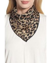 kate spade new york Leopard Silk Bandana