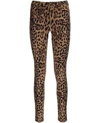 a7c25f9d5cba Boohoo Jess Mid Rise Leopard Skinny Jeans, $35   BooHoo   Lookastic.com