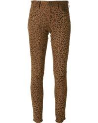Lapis Italia Leopard Skinny Trousers