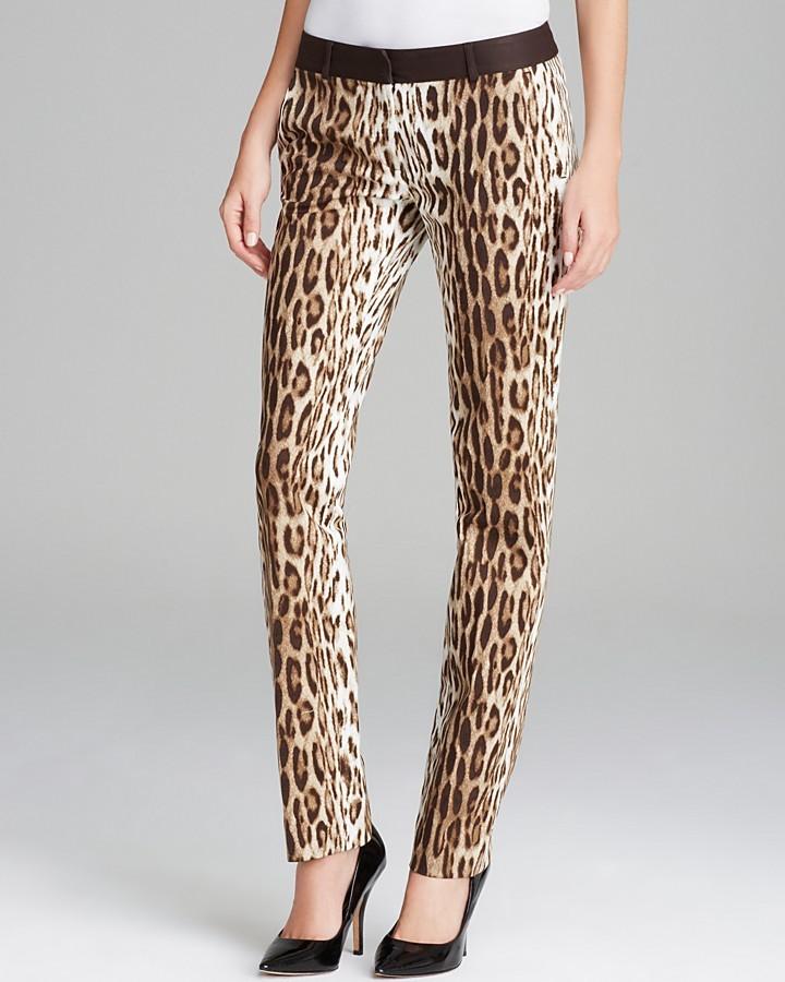 668833d3b8e620 MICHAEL Michael Kors Michl Michl Kors Leopard Skinny Ankle Pants .