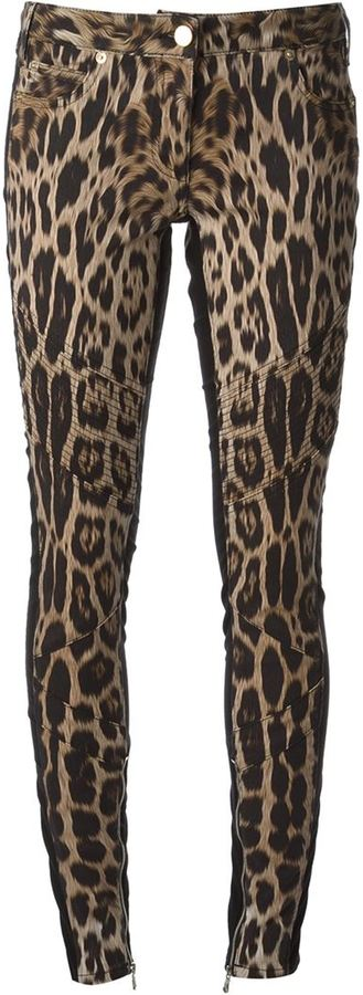 Roberto Cavalli Leopard Print Skinny Jeans | Where to buy & how to ...