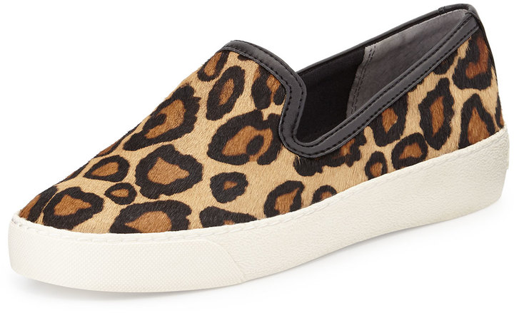 570336bc7 ... Sam Edelman Becker Calf Hair Slip On Sneaker Leopard ...