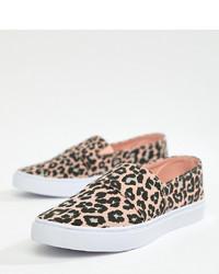 ASOS DESIGN Dodger Plimsolls In Leopard Print
