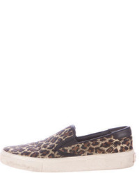 Saint Laurent Leopard Print Slip On Sneakers