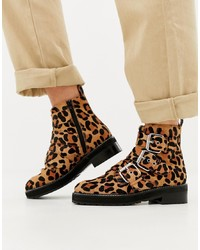 Office Artillery Chunky Leopard Three Boots