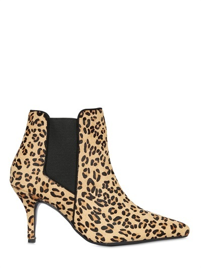 wholesale outlet attractive price best shoes KG by Kurt Geiger 80mm Scamp Leopard Ponyskin Ankle Boots, $258 ...