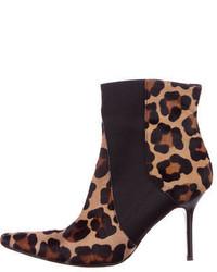 Dolce & Gabbana Ponyhair Ankle Boots