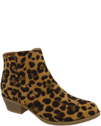 Tan Leopard Chevy Ankle Boot
