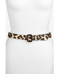 Another Line Leopard Print Calf Hair Belt Natural Leopard W Gold Large