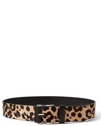 Banana Republic Haircalf Leather Wide Covered Roller Waist Belt