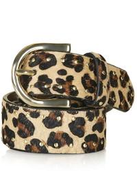Leopard Print Stud Belt