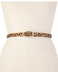 Tommy Hilfiger Belt Leopard Haircalf Plaque Belt