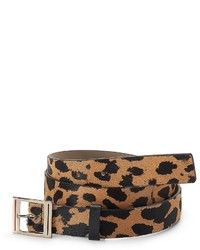 Tommy Hilfiger Leopard Print Calf Hair Belt